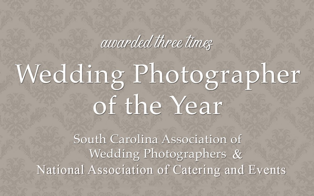 "Awarded three times ""Wedding Photographer of the Year"""