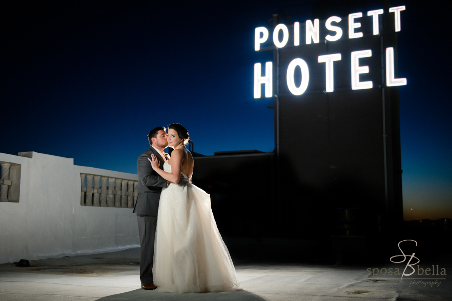 Roof top wedding photos at the Westin Pointsett Hotel.