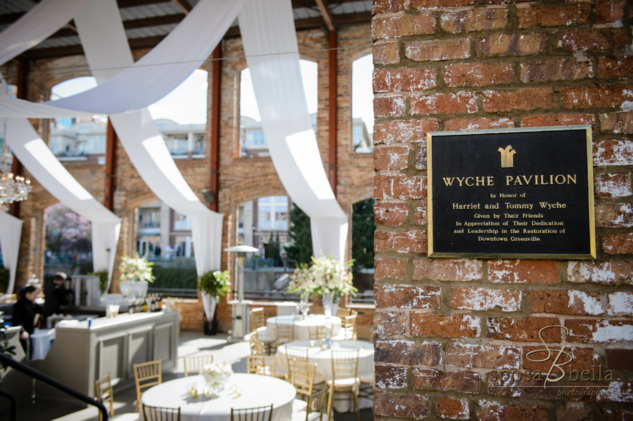 Wyche Pavilion in downtown Greenville, SC is one of our favorite wedding venues to photograph.
