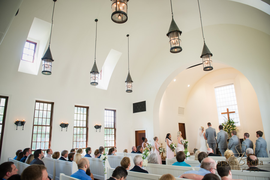 Wedding Ceremony in the chapel at the Reserve at Lake Keowee.