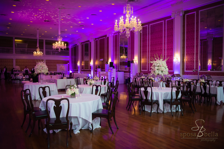 Ballroom reception at the Poinsett Club in Greenville, SC