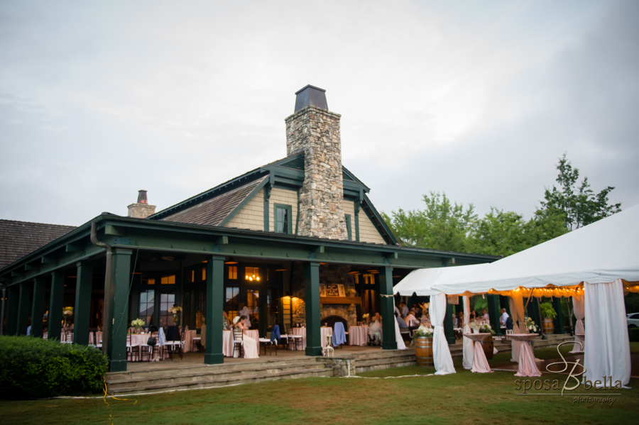 Wedding reception at the Reserve at Lake Keowee.