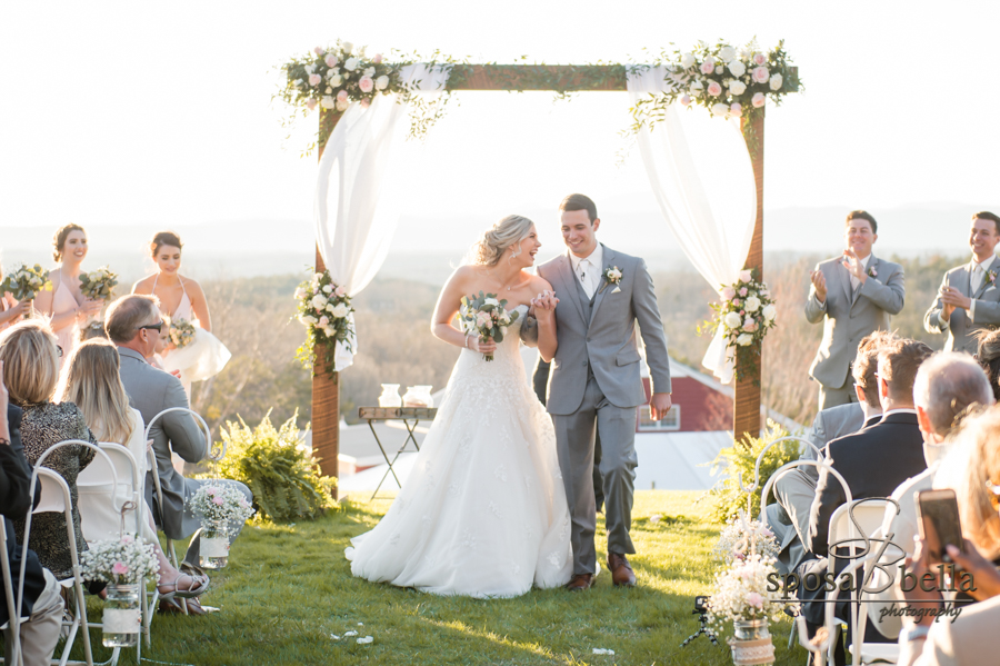 Stunning outdoor wedding ceremony.
